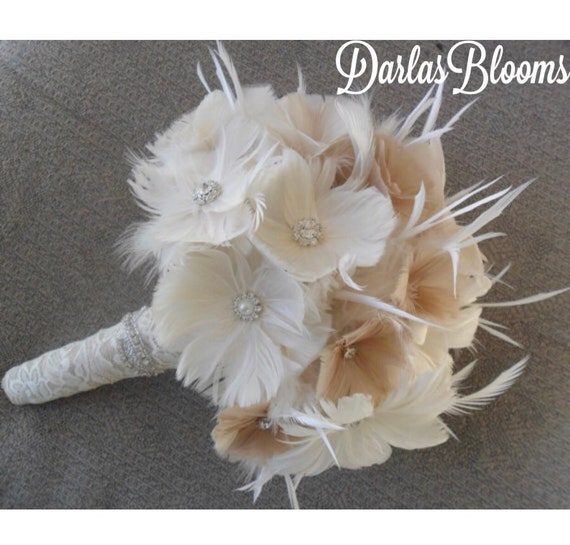 Wedding Bouquet Bridal Bouquet Brooch Bouquet Great Gatsby Etsy