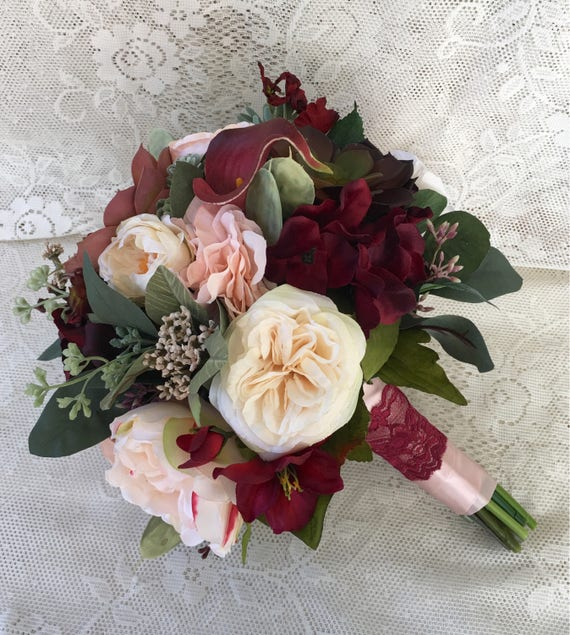 Flower Bouquet Pictures For Weddings: Wedding BouquetBridal BouquetBurgundy And Blush Wedding