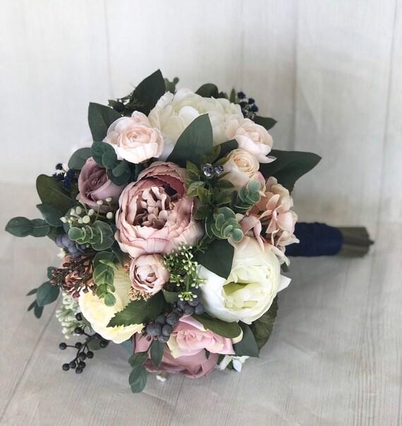 Bouquet De Mariage Fleurs De Mariage Vieux Rose Bouquet De Etsy