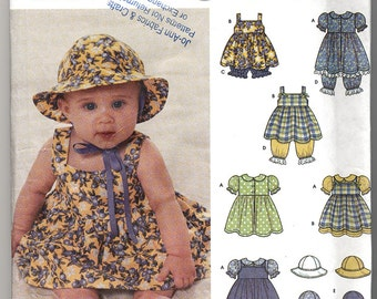 Simplicity 9784 Baby Summer Dresses and Hats