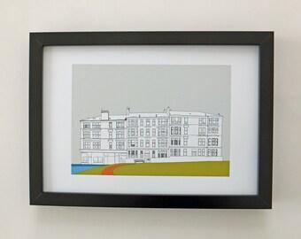 Glasgow Print, art print, home decor, wall art, Scottish art, Picture of Glasgow, Scotland