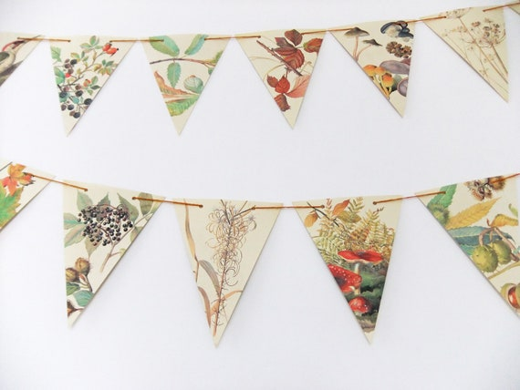 Fall HOME Decoration THANKSGIVING Banner Party Garland Autumn Vintage Bunting