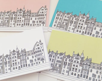 Edinburgh Cards, Blank Cards with envelopes, Ramsay Lane Note Cards, Greeting Cards, Thank You Cards, Notecards