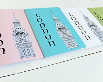London Card, Big Ben Blank Cards with envelopes, Big Ben Note Card, Greetings Card
