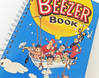 SALE Beezer Journal, Beezer 1968, up-cycled notebook, gift for guys