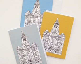 Liverpool Cards, Blank Cards with envelopes, Blue Card, Gold Card, Greeting Cards, Thank You Cards, Notecards