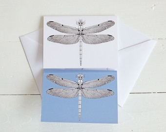 Dragonfly Card, Blank Card with envelope, Greeting Cards, Nature Note Cards