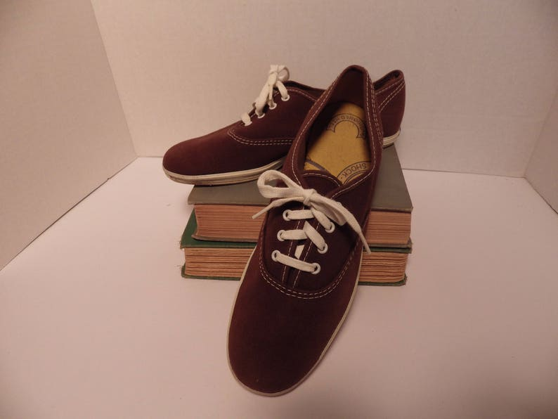 a41ca03b79e Vintage 1950s Keds Champion Brown Canvas Sneakers Deadstock