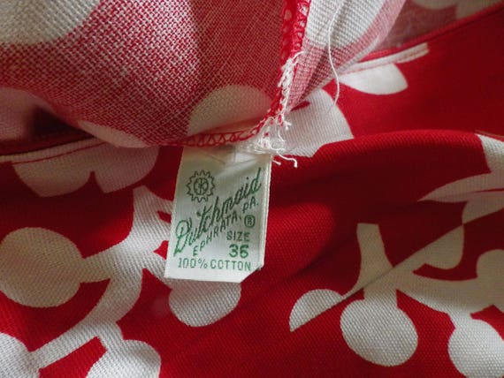 Lovely Vintage Red and White Hawaiian Cotton Dres… - image 8