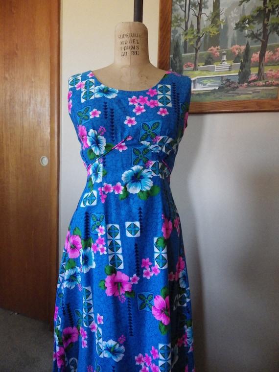 Vintage Royal Hawaiian Full Length Gown Pake Muu 3