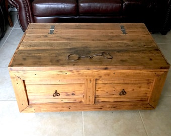 Rustic Coffee Table Trunk   Blanket Chest   Trunk