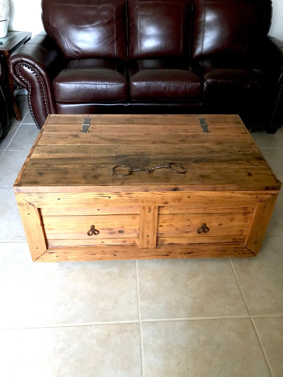 Rustic Coffee Table Trunk Blanket Chest East Coast Etsy