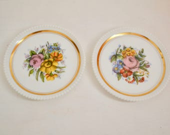 Pair of Hand-Painted Decorative Plates