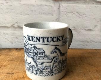 Original I Wildcat Kentucky Classic University Style Coffee Mug Tea Cup Blue