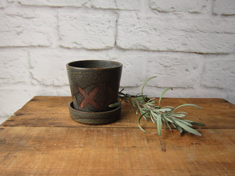 Vintage Flower Pot Herb Pot Window Sill Garden