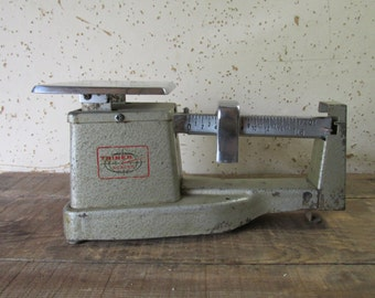 Vintage Industrial Triner Scale - Mail Scale - Metal Scale