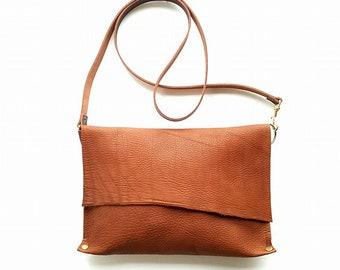 Rusty Brown Leather cross body bag