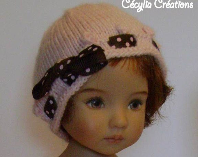 Featured listing image: 154. French and english knitting pattern PDF - Waistcoat and hat for Little Darling doll 13''