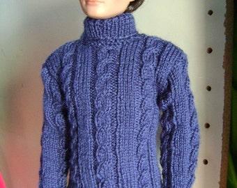 25. Fiche tricot en français : pull irlandais pour Harry Potter, Draco ou Rufus Rutter