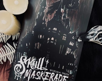 NEW! Skull Maskerade Issue 2 Watercolor Comic Book by Carla Wyzgala Carlations and Justin Tauch