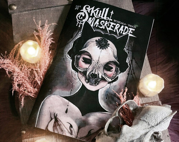 NEW! Skull Maskerade Issue 1 Watercolor Comic Book by Carla Wyzgala Carlations and Justin Tauch