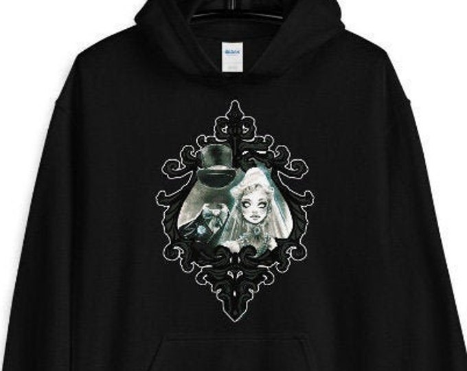 Haunted Mansion Constance Ghost Bride Halloween Hoodie by Carlations Carla Wyzgala