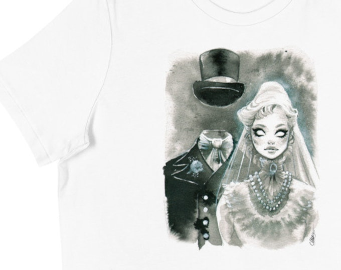 Haunted Mansion Constance Ghost Bride Halloween Women's T-Shirt by Carlations Carla Wyzgala