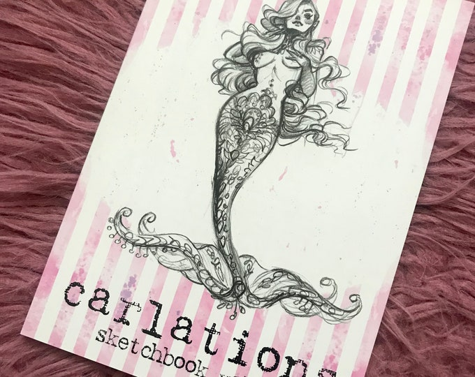 CARLATIONS Sketchbook vol. 1 carla wyzgala watercolor pin-up mermaid sailor moon art book
