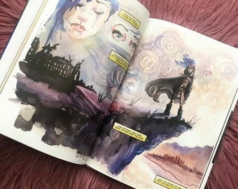 Surreality Hardcover Graphic Novel Watercolor Comic Book Carla Wyzgala Carlations