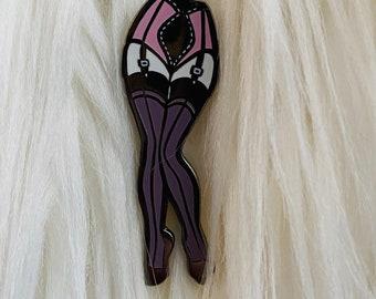 Enamel Pin Up Legs Pin from Carlations Spooky Burlesque Enamel Pin series