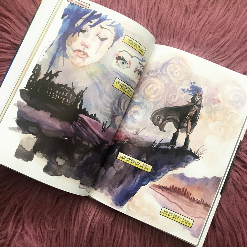Surreality Hardcover Graphic Novel Watercolor Comic Book Carla image 0