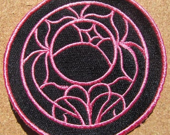 Utena Anime Rose seal crest Iron on OR Sew on patch