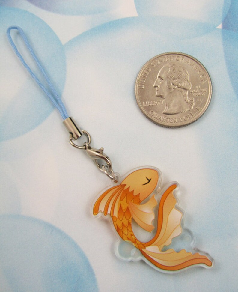 Double Sided Charming Gold Fish Charm