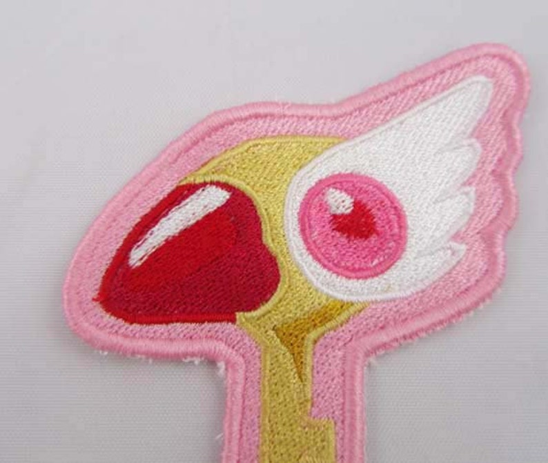 Cardcaptor Anime Clow Key  Machine Embroidered Iron on OR Sew on Patch
