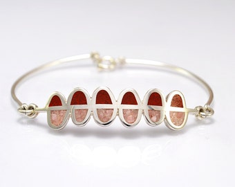 Sterling Silver  Bracelet, Color, Bubbles, Fun, Spring, Colorful, Contemporary, Modern