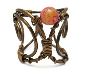 Wire Wrapped Jewelry - Corset Ring - Victorian Jewelry - Bohemian Rings