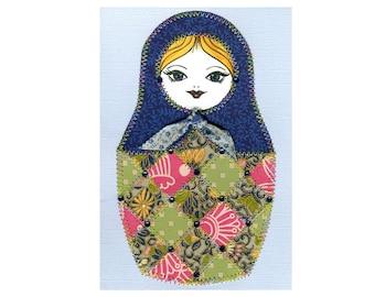 Matryoshka Doll Paper Quilt Card Pattern GC123