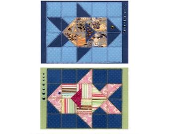 Little Fish Paper Quilt Card Pattern GC109a