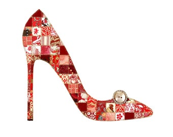 I Want That Shoe Paper Quilt Picture Pattern QP102
