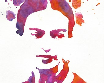 Frida Kahlo Watercolor, Frida Kahlo Art, Frida Print, Watercolor Print, Art Print, Wall Art, Frida