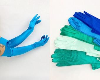Formal Long Gloves Long Gloves Vintage 1960s Jewel Tone Deadstock Satin Opera Gloves Jewel Tones Vintage Bridesmaid 60s Evening Gloves