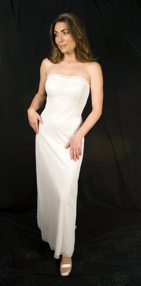 Sexy Wedding Slip Gownivory Slip Dress Negligee Halter Top Etsy