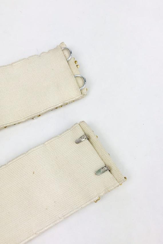 Vintage 1950s Deadstock Gold Beaded Belt, 50s Hoo… - image 8
