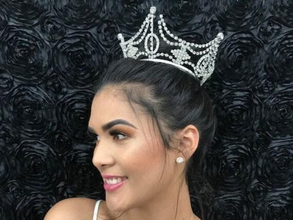 Regal Crown Tiara, Vintage Five Point Bridal Cryst