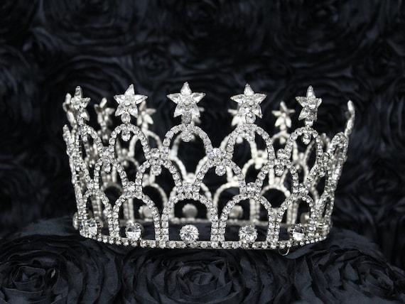 Rhinestone Crown,Game Of Thrones Crown, Pewter Cel
