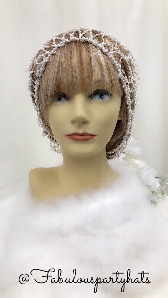 Snood Hair Net, Bridal Snood, Renaissance Hair Sn… - image 2