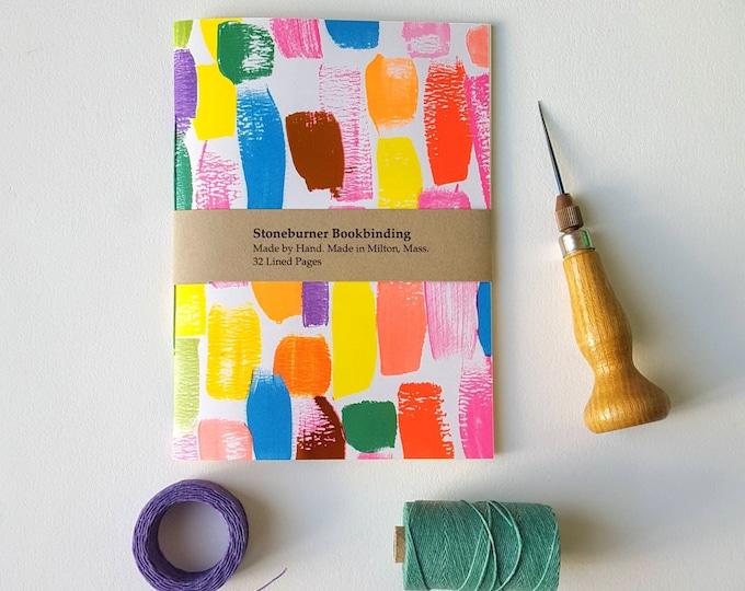 Brushstrokes Notebook - Brush Strokes Rainbow Journal - Pocket Notebook - Jotter - Rainbow Notebook - Diary