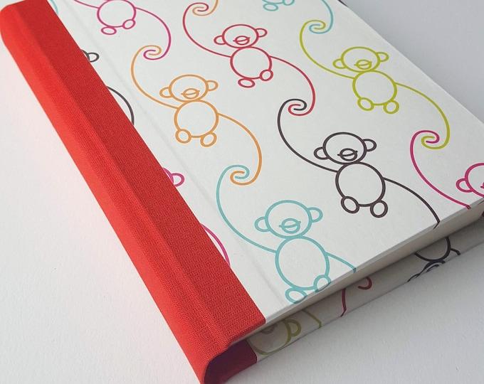 Rainbow Monkeys Journal - Cheerful Monkeys Paper - Pregnancy Journal - Postpartum Journal - Daily Writing Journal - Diary