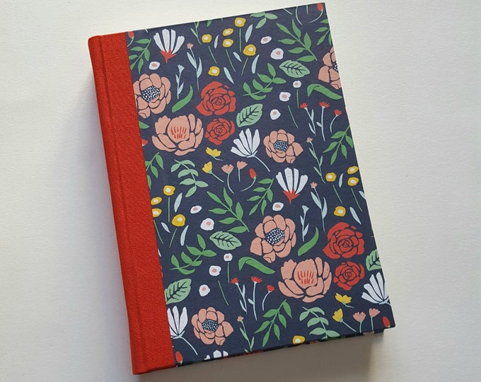 Bright Floral Journal - Free U.S. Shipping - Colorful Flowers Pattern Notebook - Bright Poppies Journal - Daily Writing Journal - Diary