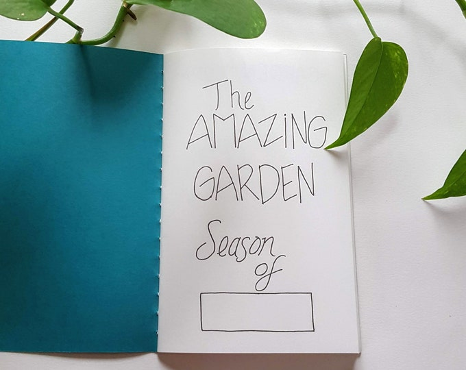 Garden Journal - Peacock Blue - Gardening Journal - Planting Diary - Plant Lady Journal - Harvest Tracker